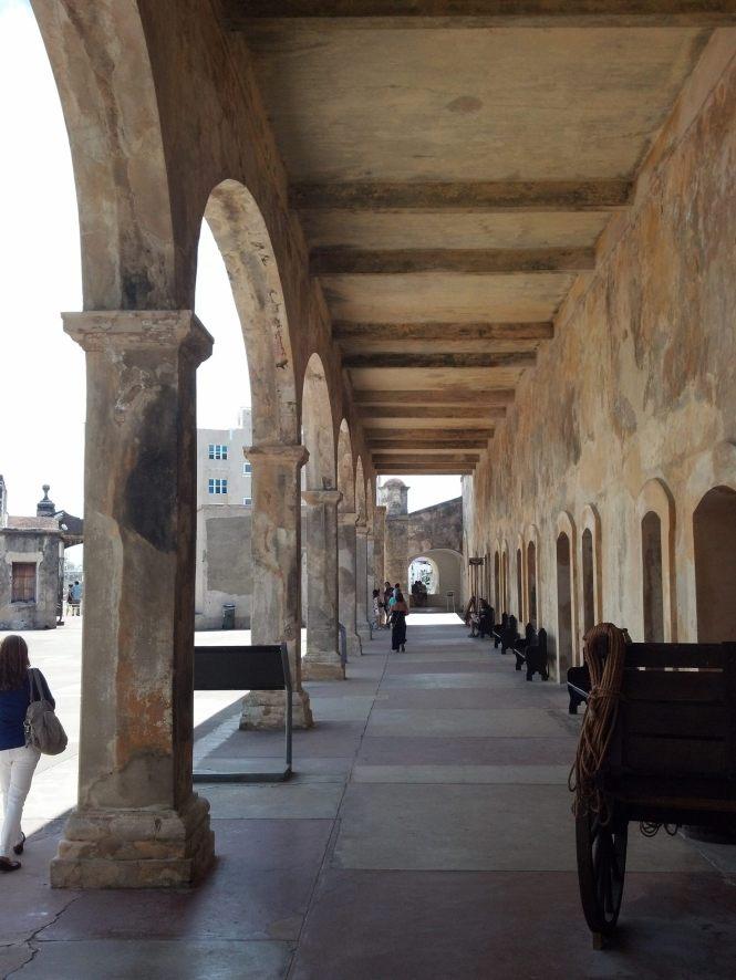 Gallery inside Castillo de San Cristobal