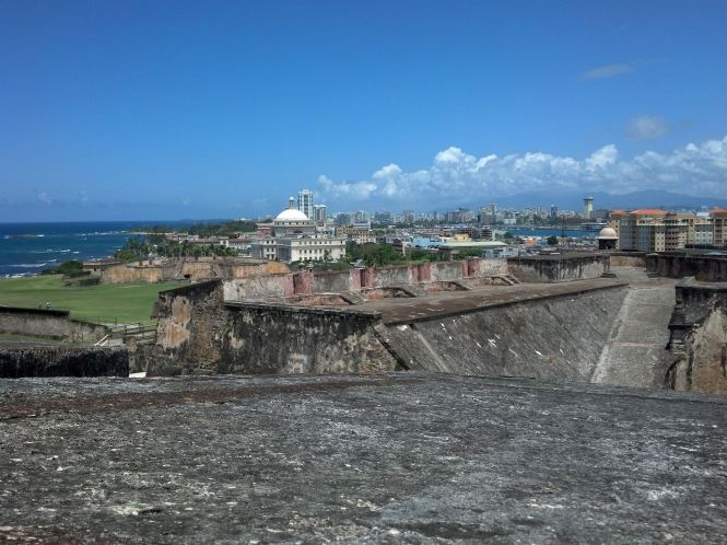 View from the top of Castillo de San Cristobal