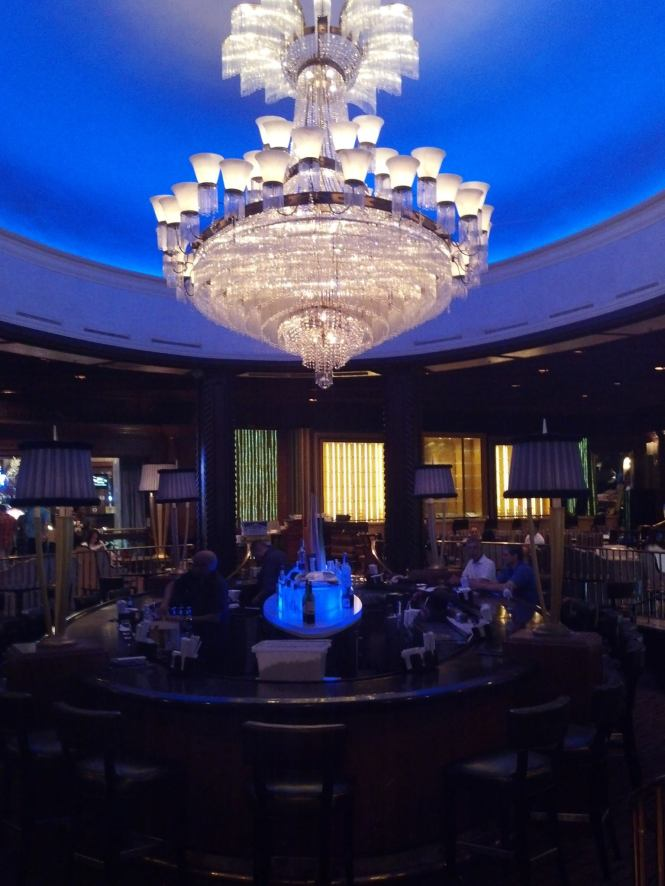 The Blue Bar in the center of the lobby