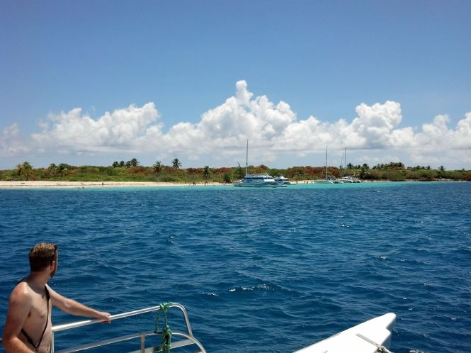 Our first snorkeling site. Lots of boats, lots of snorkelers.