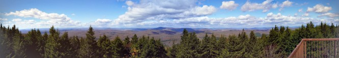 Panoramic view from the top of West Virginia - Spruce Knob!