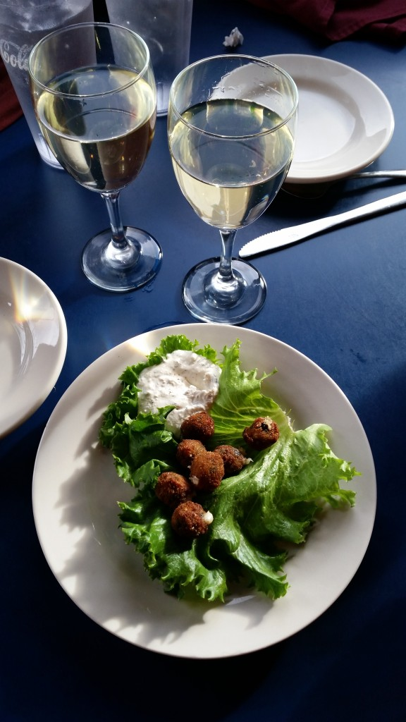 Deep-fried, asiago-stuffed olives, oh my!