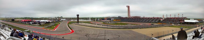 The view from our seats of turns 12 - 16