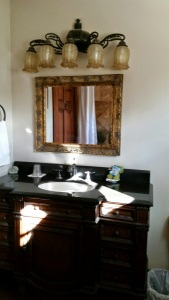 Antique bath vanity