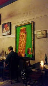 Pop art leaning tower