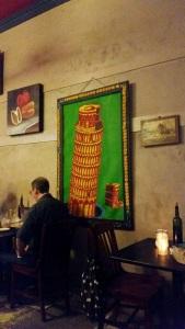 Pop art leaning tower