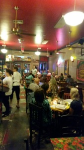 Bustling restaurant scene