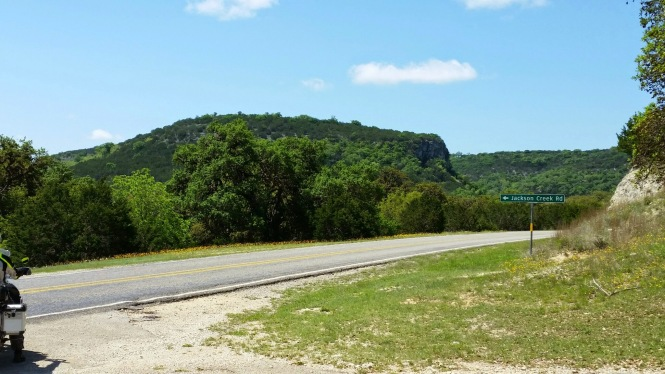 Green-covered buttes