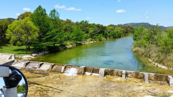 Crossing the Sabinal river