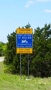 A terse warning to motorcyclists!