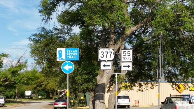 The crossroads of Rocksprings