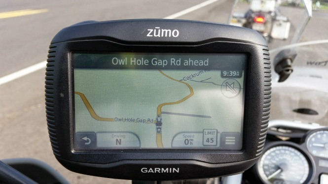 Who can resist a road called Owl Hole Gap, that crosses TWO ridges??