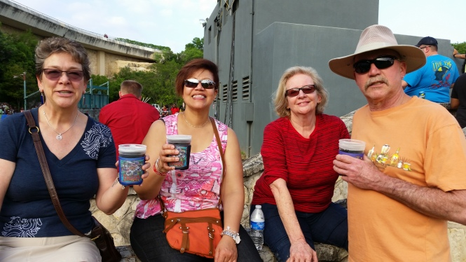 Enjoying the sights, sounds and beverages of Taste of New Orleans- photo credit to Jerry