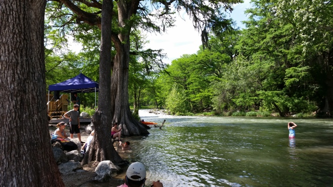The cool, green, Guadalupe river