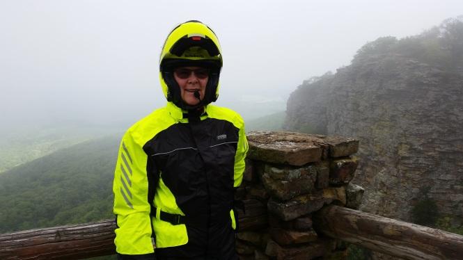 Nice rain gear, huh? Certainly good for visibility!