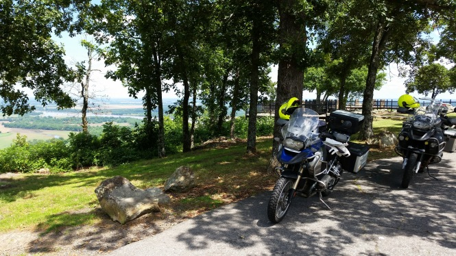 Our bikes at Stout's Point overlook