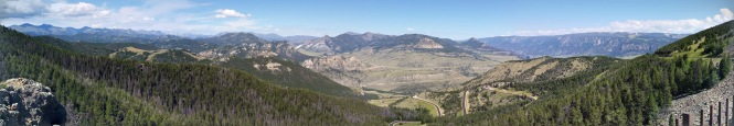 A panorama of the incredible view from Dead Indian Pass