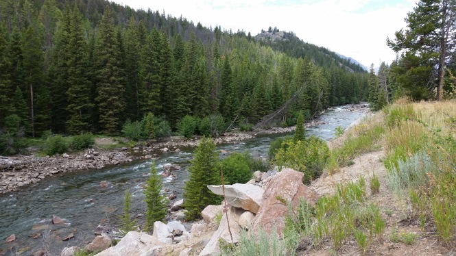 The Clarks' Fork of the Yellowstone, at river level