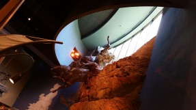 A life-sized depiction of a 'buffalo jump'