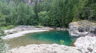 Red Rock point turquoise pool