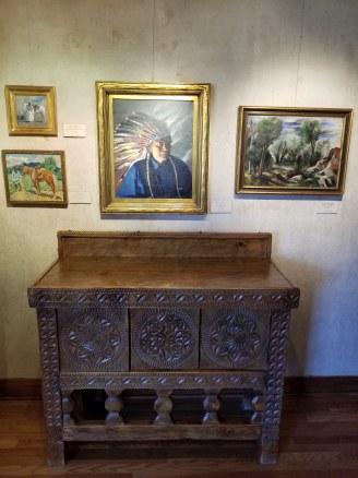 Various art & Fechin cabinet