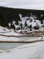 Frozen ponds in California Gulch