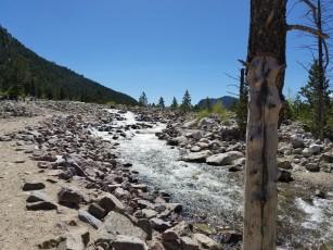 The Roaring River in the Alluvial Fan