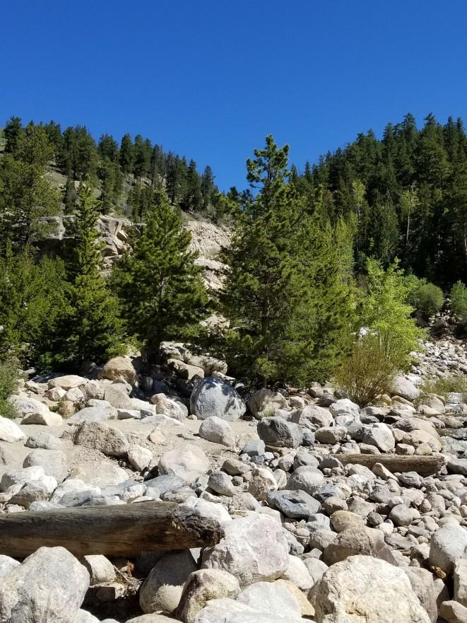 Boulder fields in the Alluvial Fan