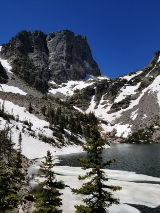 Ice sheets on Emerald Lake
