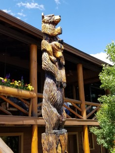 Bear family carving